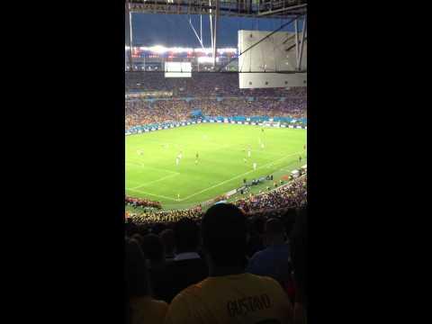 25/06/2014 - France-Ecuador...La Marseillaise haut et fort !