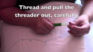 Assemble & thread a punching needle
