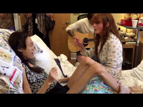 Florence + The Machine and Hospice Austin teen sing Shake It Out