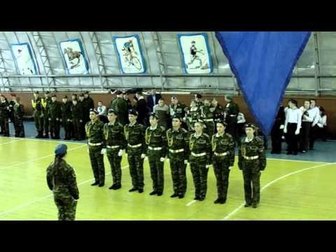 Районный смотр песни и строя 2016 Любинская СОШ №3