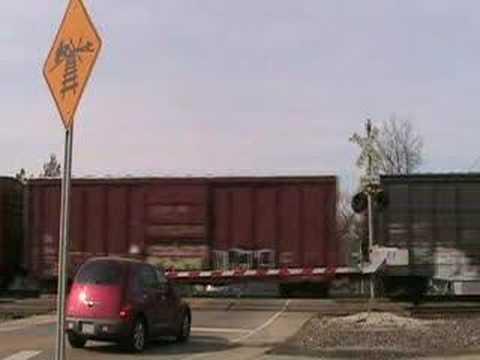 This is a railroad crossing in webster groves mo this is the only crossing in the county and city where there supposed to blow the horn.