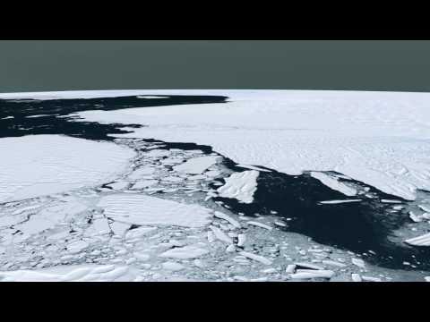 Flyover of Pine Island Glacier in Antarctica [HD]