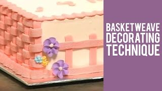 Basketweave Decorating Technique from Wilton