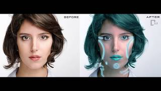 Photoshop tutorial - How to edit a Cool Human Cyborg in Adobe Photoshop - Easy way to make cyborg