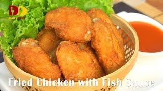 Fried Chicken with Fish Sauce | Thai Food | Gai Tod Nam Pa | ปีกไก่ทอดน้ำปลา