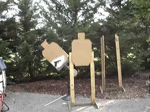 Homemade Swinging Target Stand Youtube