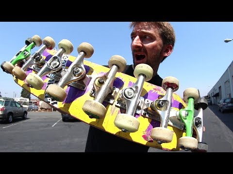 AS MANY TRUCKS ON ONE BOARD AS POSSIBLE! | STUPID SKATE EP 101