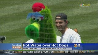 Trending: Fan Injured By Flying Hot Dog Launched By Mascot
