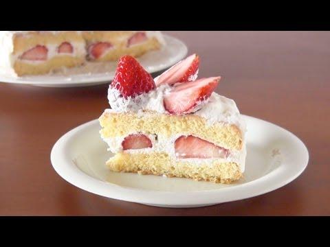 How to Make Strawberry Shortcake (Recipe) イチゴのショートケーキの作り方 (レシピ)