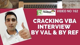 Learn Excel - Video 162 - VBA Interview Question Byref & ByVal