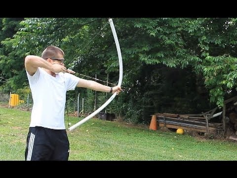 Powerful pvc pipe bow under 10 youtube for Bow made out of pvc pipe