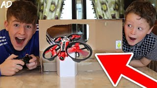 *CRAZY* INDOOR DRONE RACING OBSTACLE COURSE!