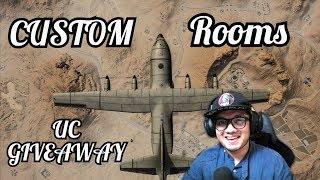 PUBG MOBILE || Custom Rooms 🤙 UC Giveaway 🤙