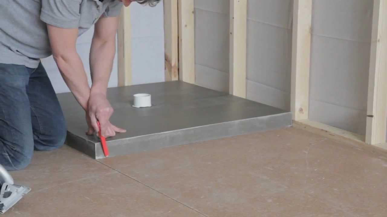 How to install tile in shower floor