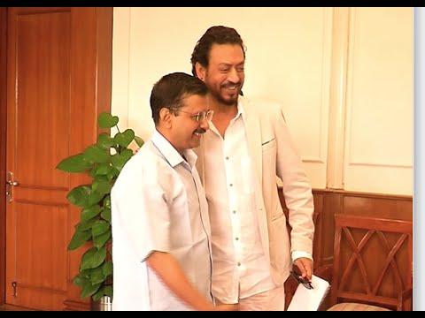 Actor Irrfan Khan called on CM Arvind Kejriwal.