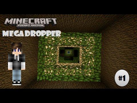 Mega Dropper !! | Part 1 | Minecraft PE
