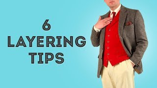 6 Tips On How To Layer Men's Clothes with Style - Clothing Layering Techniques in Classic Menswear