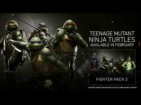 INJUSTICE 2  - NINJA TURTLES TMNT GAMEPLAY TRAILER