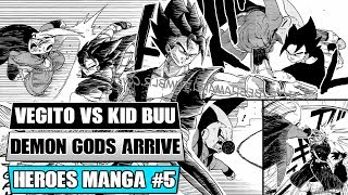Dragon Ball Heroes Manga Chapter 5: Xeno Vegito Vs Dark Star Kid Buu Demon God Dabura Absorbed!