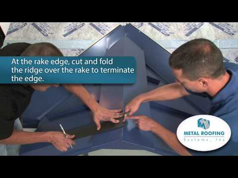 How To Flash Metal Roofing Systems Ridge Installation