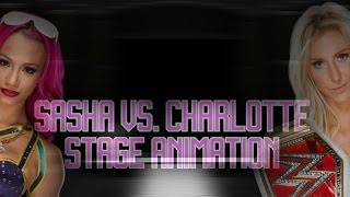 WWE Stage Animation | Sasha Banks Vs. Charlotte