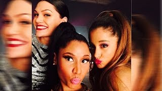 "Nicki Minaj, Ariana Grande, Jessie J SELFIE First Look at ""Bang Bang"" Video Shoot"