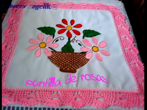 ★★ PUNTILLA DE ROSAS A GANCHILLO PARTE 1..★★