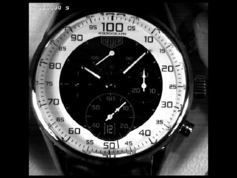 TAG Heuer Carrera Mikrograph 1/100th of a second Chronograph Lab test movie