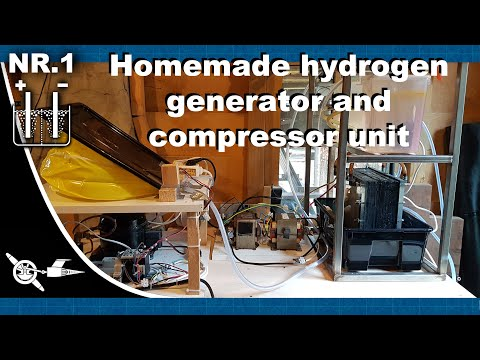Homemade hydrogen generator and compressor unit