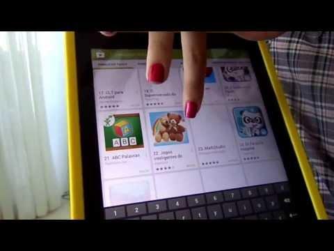 Como baixar aplicativos com o tablet