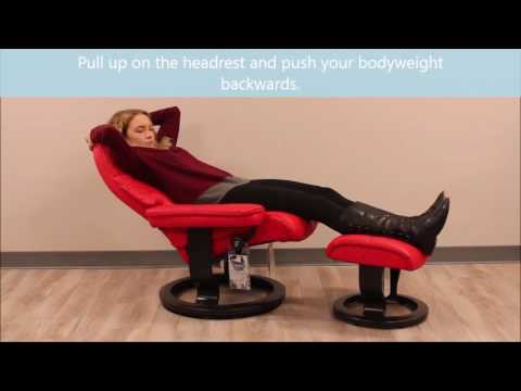 How To Use and Recline Your Stressless Recliner Chair from TheBackstore.com