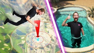 Skydive Into The Pool Challenge! | GTA5