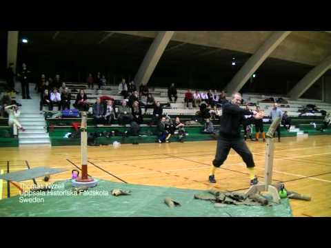 Helsinki Longsword Open 2016 - Cutting tournament Thomas Nyzell