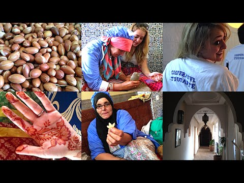 Cracking Wild Argan Nuts in MOROCCO!