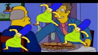 Steamed hams but Seymour's lies are replaced with Marge krumping