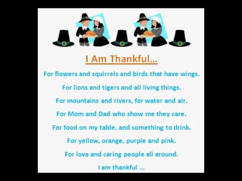poem about being thankful for children
