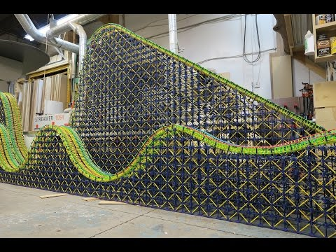 Colossal Racer Time Lapse - K'nex Racing Roller Coaster Construction