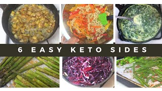 6 Easy Keto Side Dishes | #MEALPREP | #FREEZERMEALS | #KETO | #FAMILYFRIENDLY | #LCHF