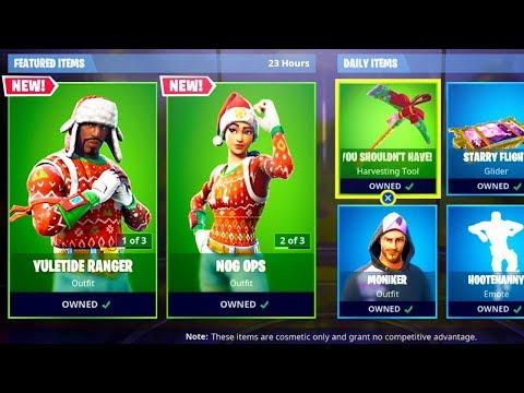 *NEW* CHRISTMAS SKINS in Fortnite! NOG OPS & YULETIDE RANGER SKINS RETURN! (Fortnite Battle Royale)