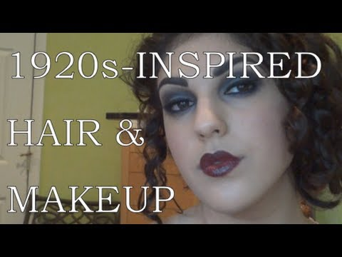 1920s-Inspired Makeup Tutorial and Hairstyle for Long Hair! - YouTube