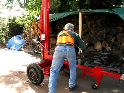homemade log splitter 2011