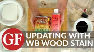 How to Update Cabinets & Existing Finishes with Water Based Stain