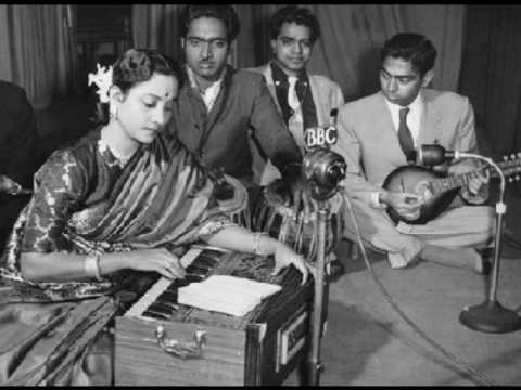 Geeta Dutt Manna Dey : Hindi song in a Bengali film