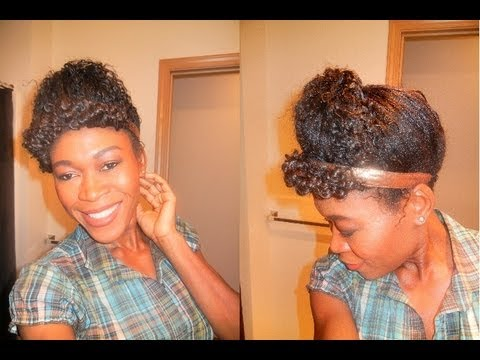 TWISTED & SCOOPED CURLY UPDO HAIRSTYLE. - YouTube