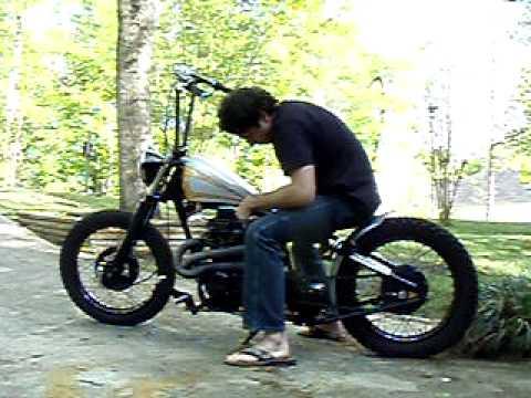 Honda Cb350 For Sale Garage Company Customs Honda CB360 bobber FOR SALE - YouTube