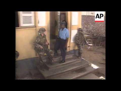 Haiti-US Army Patrol Police Stations & Food Lines