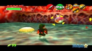 Legend of Zelda: Ocarina of Time Walkthrough - Inside Jabu Jabu's Belly - Part 1