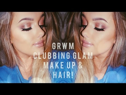 GRWM - Clubbing Glam! Make Up & Hair | Rachel Leary