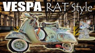 Vespa Rat Style Manillar de Tubo 1957, Tuning Vespa . Viaje Península E.4  Mallorca en Motorvlog 26