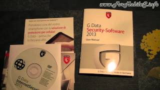 Unboxing di G Data InternetSecurity 2013 - esclusiva mondiale !
